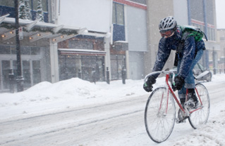 Winter Bicycle Commuting in Akron…No Sweat!