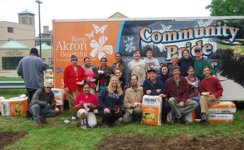 My community garden planting a few miracles…growing a newcommunity